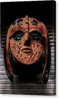 Sutton Hoo - Saxon Mask Canvas Print by Martin Newman