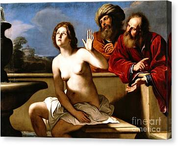 Suzanna And The Elders Canvas Print by Pg Reproductions