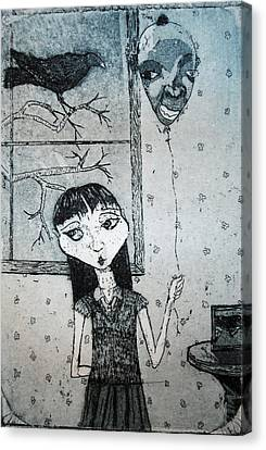 Canvas Print featuring the mixed media Suzannah by Josean Rivera