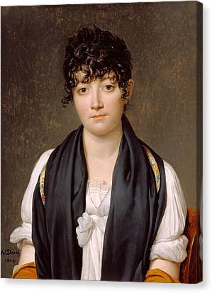 Suzanne Le Peletier De Saint-fargeau Canvas Print by Jacques-Louis David