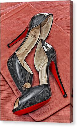 Suzette Loves Her Louboutins Canvas Print