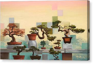 Canvas Print featuring the painting Suzhou Bonzais by Dave Platford