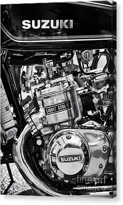 Suzuki Gt750 Monochrome Canvas Print