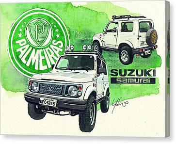 Suzuki Samurai Canvas Print by Yoshiharu Miyakawa