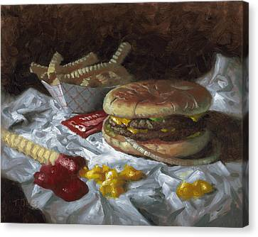 Suzy-q Double Cheeseburger Canvas Print