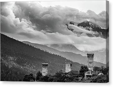 Canvas Print featuring the photograph Svan Towers by Francesco Emanuele Carucci