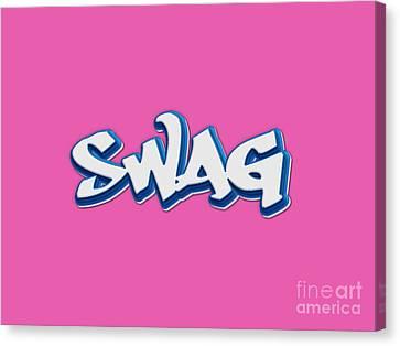 Swag Tee Canvas Print by Edward Fielding