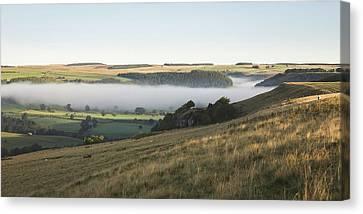 Inversion Canvas Print - Swaledale Inversion by Chris Dale