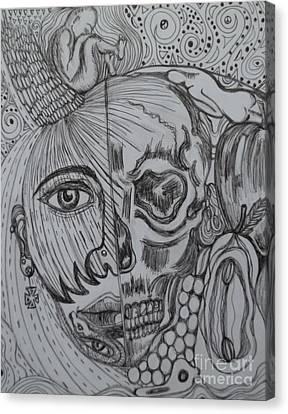 Swallowed Pride Canvas Print by Anita Wexler