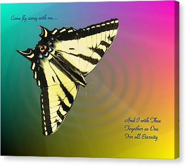 Butterfly In Motion Canvas Print - Swallowtail - Come Fly Away With Me by Joyce Dickens