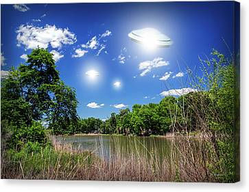 Swamp Gas Canvas Print by Brian Wallace