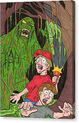 Swamp Monster Canvas Print by Anthony Snyder