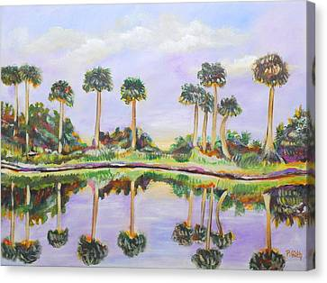 Swamp Palms Canvas Print by Patricia Piffath