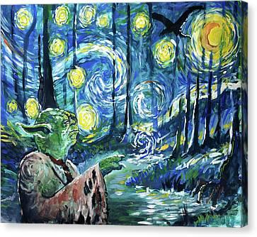 Swampy Night Canvas Print by Tom Carlton