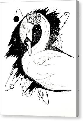 Canvas Print - Swan Among The Stars by Kenal Louis