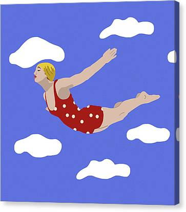 Swan Dive Canvas Print by Nicole Wilson