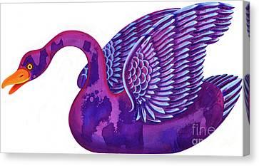 Swans... Canvas Print - Swan by Jane Tattersfield