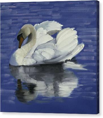 Swan Lake Canvas Print by John Reynolds