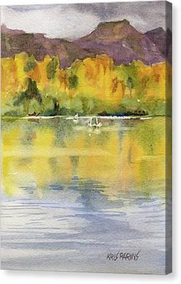Swan Lake Canvas Print by Kris Parins