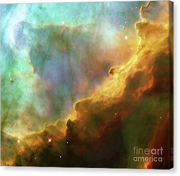 Swan Nebula, M17, Birthplace Of Stars, Space, Astronomy, Science Canvas Print by Tina Lavoie