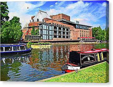 Swan Theatre Stratford Upon Avon Home Of The Royal Shakespeare Company Canvas Print