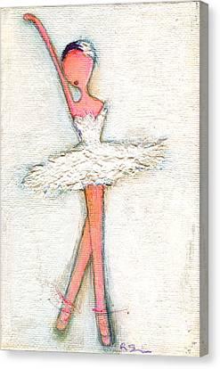 Swan White Canvas Print