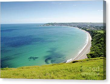 Swanage Bay The Bay At Swanage Dorset England Uk Canvas Print by Andy Smy