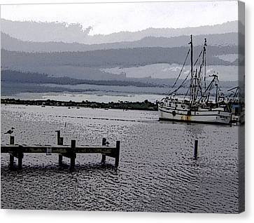Canvas Print featuring the photograph Swansboro Harbor by Skyler Tipton