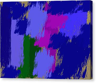 Digital Installation Art Canvas Print - Swatches Of Colors by Tina M Wenger