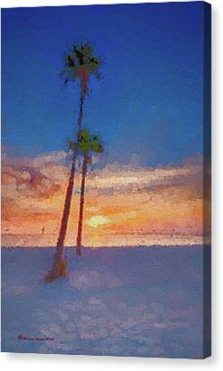 Canvas Print featuring the photograph Swaying Palms by Marvin Spates