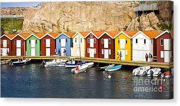Swedish Boathouses Canvas Print by Lutz Baar