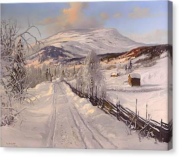 Swedish Winter Landscape Canvas Print by Mountain Dreams