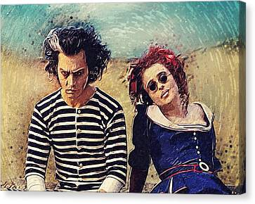 Sweeney Todd And Mrs. Lovett Canvas Print by Taylan Apukovska