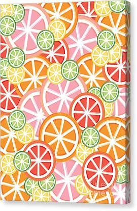 Sweet And Sour Citrus Print Canvas Print by Lauren Amelia Hughes