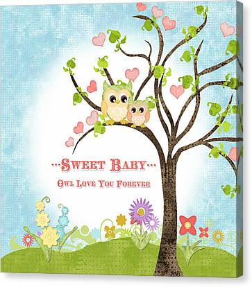 Sweet Baby - Owl Love You Forever Nursery Canvas Print