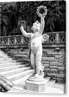 Sweet Cherub Biltmore Estate Canvas Print by William Dey