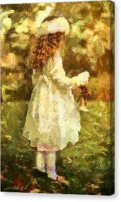 Sweet Child Of Innocent Joy Canvas Print by Georgiana Romanovna