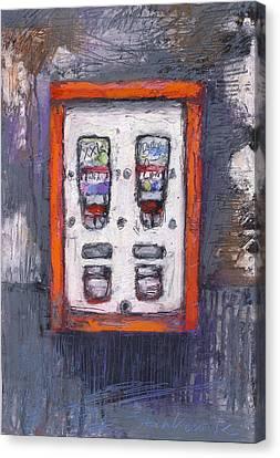 Sweet Childhood Memories,bubblegum Machine Canvas Print by Martin Stankewitz