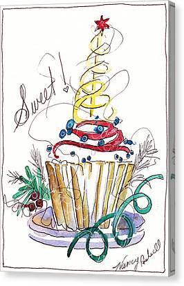 Sweet Cupcake Canvas Print by Michele Hollister - for Nancy Asbell
