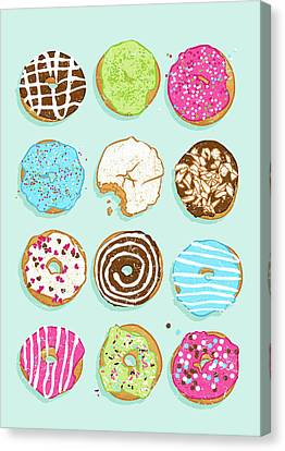 Sweet Donuts Canvas Print by Evgenia Chuvardina