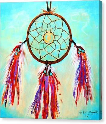 Sweet Dream Catcher Canvas Print by M Diane Bonaparte