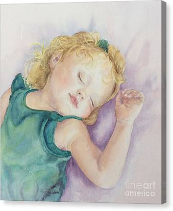 Canvas Print featuring the painting Sweet Dreams Lucy by Beatrice Cloake