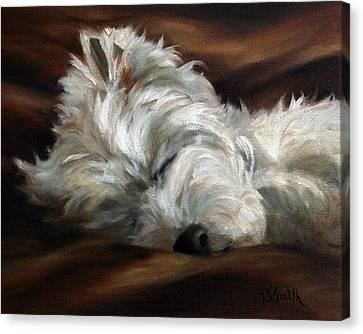 West Highland Canvas Print - Sweet Dreams by Mary Sparrow