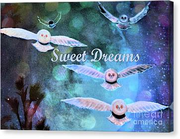 Silver Moonlight Canvas Print - Sweet Dreams by Nina Silver