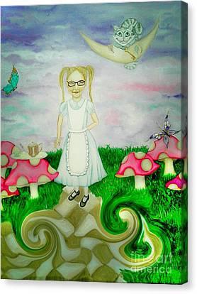 Tea Party Canvas Print - Sweet Dreams In Wonderland by Wendy Wunstell