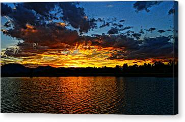 Sweet End Of Day Canvas Print by Eric Dee