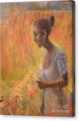 Sweet Grass Canvas Print by Gertrude Palmer
