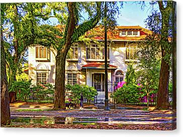 Sweet Home New Orleans - Walking The Dogs - Paint Canvas Print by Steve Harrington