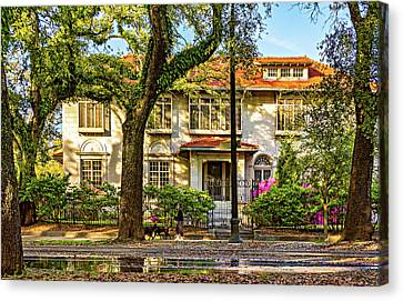 Sweet Home New Orleans - Walking The Dogs Canvas Print by Steve Harrington