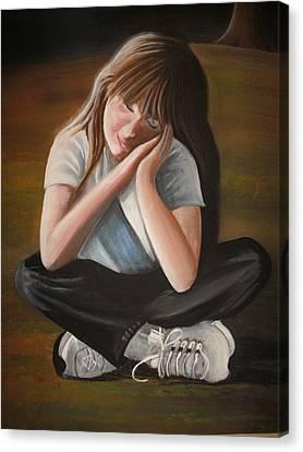 Sweet Jordan Canvas Print by Scott Easom